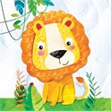 Servietter 33x33 cm Happy Lion