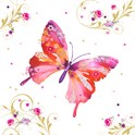 Servietter 33x33 cm Pretty Butterfly