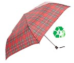Paraply Red Tartan - Eco Chic